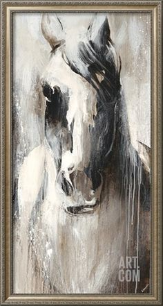 Over-sized, large picture/painting/glicee of horse portrait.
