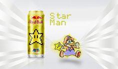 Latas de Red Bull personalizadas Super Mario   Nerd Da Hora