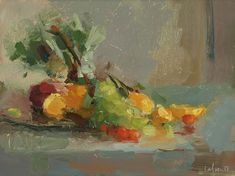 Christine Lafuente, Tuscan Harvest, oil on board, 9 x 12 inches Painting Still Life, Artist Names, Pictures To Paint, Life Inspiration, Impressionist, Flower Art, Abstract Art, Watercolor, Gallery