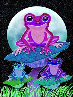 Frogs In The Moonlight ~ Nick Gustafson