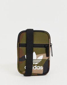 new product dce76 27a88 adidas Originals Shoulder Flight Bag in Green Camo