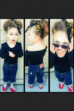Rockabilly toddler, adorable. My kid would so be dressed like this :D