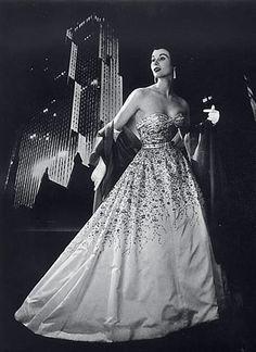 Pierre Balmain 1953 Evening Gown, Fashion Photography Philippe Pottier