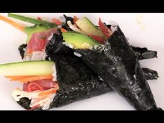 Best video I have found thus far - This guy is amusing and very talented. How To Make Tuna Sushi Hand Roll-Homemade