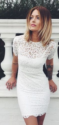 Just a pretty style | Latest fashion trends: Date night | Flattering white lace dress