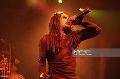 Singer Dani Filth of the satanic thrash metal band Cradle Of Filth performs on stage at the Astoria December 19, 2006 in London. Cradle Of Filth wind up the European part of their tour which promotes the new album Thornography.