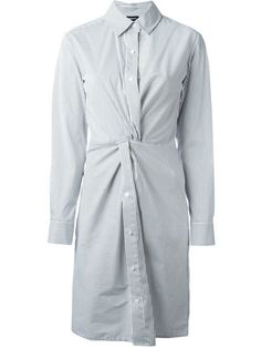 DKNY pinstripe shirt dress (Vogue 2742)