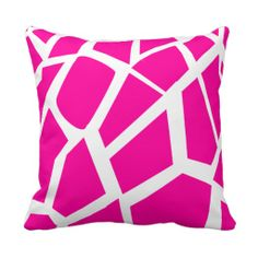 Hot Pink Giraffe Pattern Wild Animal Prints Throw Pillow Accent Cushion