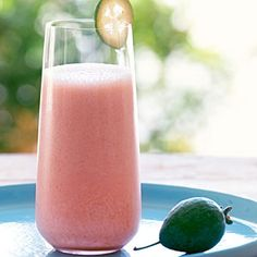 Pineapple Guava (Feijoa) and Strawberry Smoothie Recipe