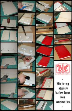 Standard Leather Bound Book Construction by ~BCcreativity