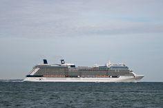 122,000 tons cruise ship Celebrity Equinox departing Southampton