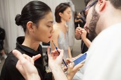 Backstage at the Fall 2016 runway show