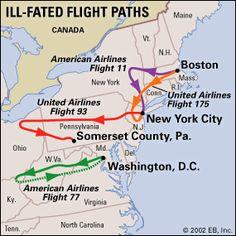 Flight Paths on 9/11