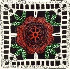 Rose Motif Free Crochet Pattern