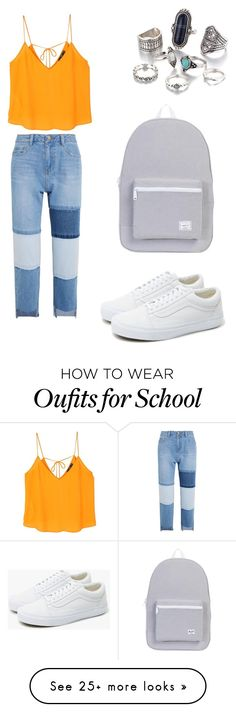 """"""""""" by pinguinfan on Polyvore featuring MANGO, Steve J & Yoni P, Herschel Supply Co. and Vans"""