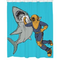 Shark Punch Shower Curtain - Overstock™ Shopping - The Best Prices on Bath Accessories