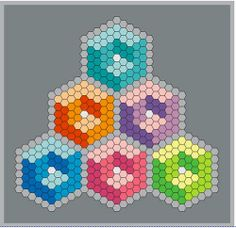 From Geta Grama: In case you need one more reason to paper piece hexagons, here is a new one. Try some hexy cubes. http://cadouri-din-inima.blogspot.ro/2012/01/hexy-cubes.html