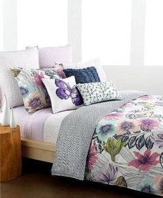 Swanky Outlet — Style  Co. Bedding, Butterfly Garden King Comforter and Shams Set NEW