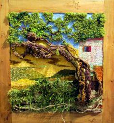 Resultado de imagen para cavandoli tapiz Weaving Textiles, Weaving Art, Loom Weaving, Tapestry Weaving, Hand Weaving, Textiles Techniques, Weaving Techniques, Textile Fiber Art, Textile Artists
