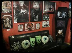 Good Rockabilly Decor   Google Search Dark Home Decor, Gothic Home Decor,  Halloween Living Room