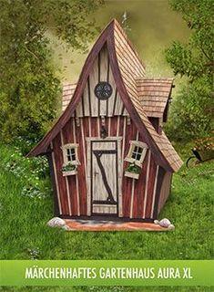 """Die Marke """"Lieblingsplatz"""" Wir bauen Holzhäuser wie man sie bauen sollte, fern ab von jedem Schuhkarton Design, ob Gartenhaus, Hexenhaus, Gartensauna, Teehaus, Spielhaus, Baumhaus, Gerätehaus, unsere Häuser bieten neben ihrem besonderen, märchenhaften Erscheinungsbild auch stets einen Nutzwert.  Wahrscheinlich wird sich eines unserer Produkte sehr schnell zu Ihrem neuen"""