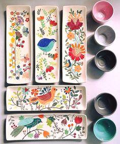 shohreh haghighi Keramik # Unterglasurmalerei # iranischer Künstler # shohrehhaghighi # Instapottery # Instaceramic # iranianceramic # Unterglasur Source by rasamok Clay Projects, Clay Crafts, Arts And Crafts, Ceramic Plates, Ceramic Pottery, Slab Pottery, Pottery Vase, Painted Pottery, Wall Plates