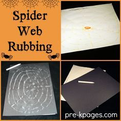 Spider Web Rubbing Activity - Fine Motor Skills + FUN for Preschool and Kindergarten