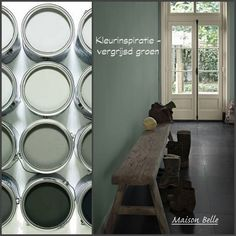 Color inspiration: looking for a beautiful color for your home? This week's color: greyish green. This is Energizing Moss 7085 from Flexa Couleur Locale. – stylish, quiet and you choose something very special – Image source: Flexa and Moodwell House Colors, House Styles, Home And Living, Wall Color, Home, Interior, Home Deco, Colorful Interiors, Home Decor