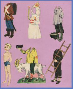 Disse dukker har tøj der passer til de dejlige eventyr af H.C.Andersen.  Her er Hyrdinden og Skorstensfejeren - Tommelise - Svinedrengen ...