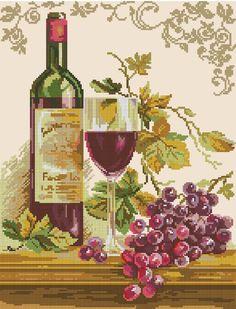 Натюрморт с виноградом - Схема вышивки крестом | Иголочка - igolochka