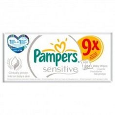 Pack 504 Lingettes Bébés Pampers Sensitive Baby - 9 Packs de 56 sur Couches Zone