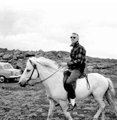 """Probably my favourite photo: Neil Armstrong riding an Icelandic horse.""""In 1967 a group of American Apollo astronauts visited Iceland to study geology under the guidance of Icelandic and American scientists. The Apollo geology field exercises were intended to develop the astronauts' observational skills in recognizing basic geologic structures. During their visit the trainee moon-walkers also took a ride on some Icelandic horses - although that was clearly not a part of their training…"""