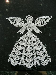 Best 12 Ravelry: Angel Doily pattern by Connie Ellison Crochet Angel Pattern, Crochet Angels, Crochet Doily Patterns, Thread Crochet, Crochet Motif, Crochet Designs, Crochet Crafts, Crochet Doilies, Crochet Christmas Decorations