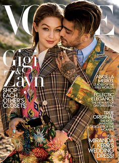 Gigi Hadid and Zayn Malik cover the August 2017 issue of Vogue Magazine photographed by Inez van Lamsweerde and Vinoodh Matadin and styled by Fashion Edito