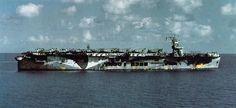 USS Santee (CVE-29) an escort carrier of the US Navy.