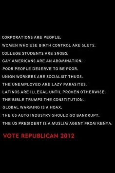 Reasons to vote Republican.