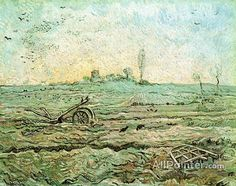 Vincent Van Gogh The Plough And The Harrow (after Millet) oil painting reproductions for sale