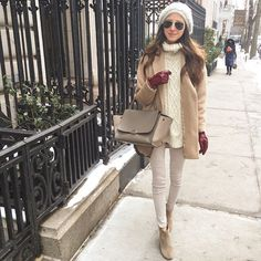 Pin for Later: 21 Winter Outfits That Look Even Better With a Beanie Keeping It Neutral