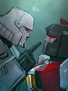 """""""I told you to change your deodorant! They can smell you from 10 miles away!"""" ~ Starscream with BO issues..."""