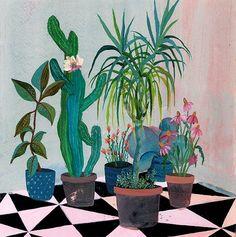 davisanddarling: Cacti painting by Laura Garcia Serventi.