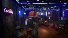 Headliners Comedy Club Rendering, Norwegian Escape ~ Fresh Dining and Entertainment Choices Headed for Norwegian Cruise Line's New Norwegian Escape | Popular Cruising (Image Copyright © Norwegian Cruise Line)