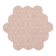 Dusty Pink Scallop Floor Rug – La De Dah Kids