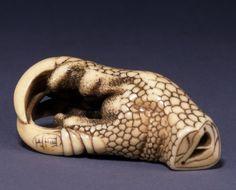 Hawk's claw, Japanese netsuke, made of ivory by Masanao 正直 (Kyoto)