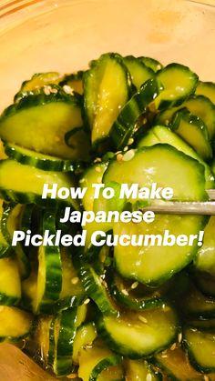 Cucumber Recipes, Salad Recipes, Canning Recipes, Vegetable Recipes, Appetizer Recipes, Vegetarian Recipes, Healthy Recipes, Quick Recipes, Plant Based Recipes