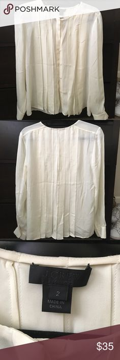 J. Crew Blouse Beautiful cream colored button up blouse from J. Crew. In great condition! J. Crew Tops Blouses