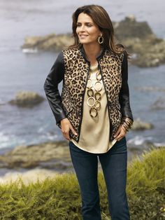 Animal Mix Jacket #WildAbout30 #chicos I love this with red pants... and it was on a massive sale!