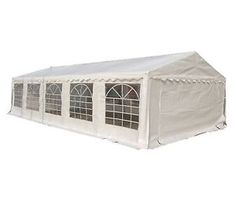 FoxHunter Outdoor 5m x 10m Heavy Duty Wedding Party Tent Marquee Marquees White  sc 1 st  Pinterest & Double Gazebo 4 x 6 m Metal Creme-White Party Tent Garden Tent ...