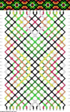 #69531 - friendship-bracelets.net                 18 fils, 8 couleurs