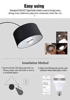 Installation for LED Music Lamp