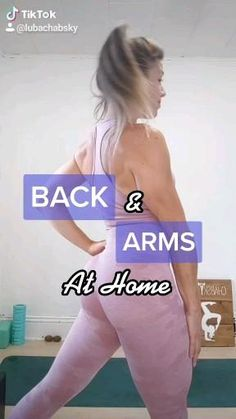 BACK & ARMS AT HOME Workout with @lubachabsky - Follow on IG